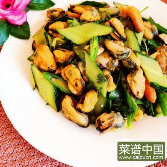 海虹肉炒瓜片