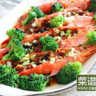 蒜蓉蒸红虾
