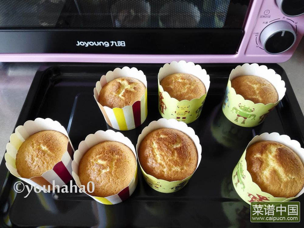 百香果海绵杯子蛋糕的做法步骤10