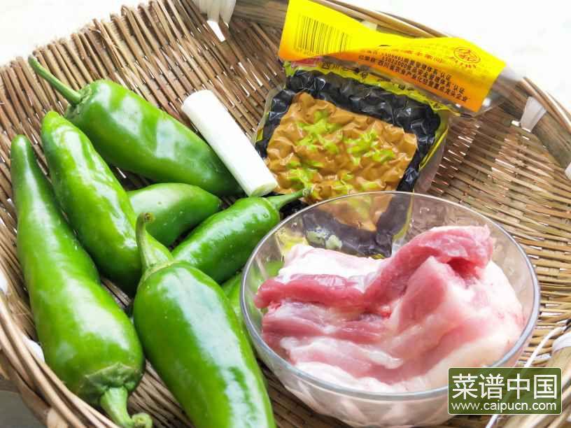 豆豉辣椒炒肉的做法步骤1