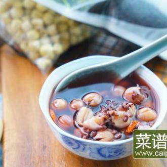 莲子黑米汤