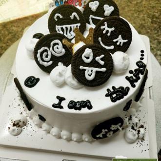 奥利奥表情包蛋糕