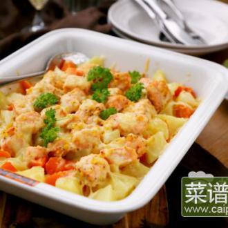 芝士咸蛋黄焗三文鱼