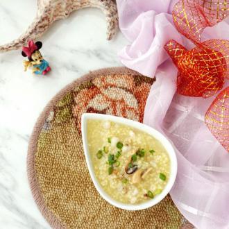 干贝淡菜薏仁小米粥