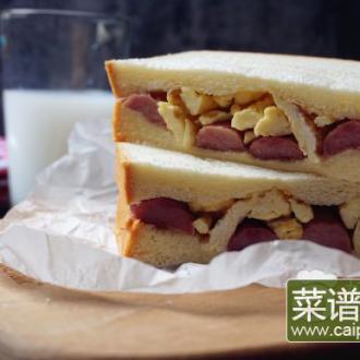 香肠鸡蛋三明治