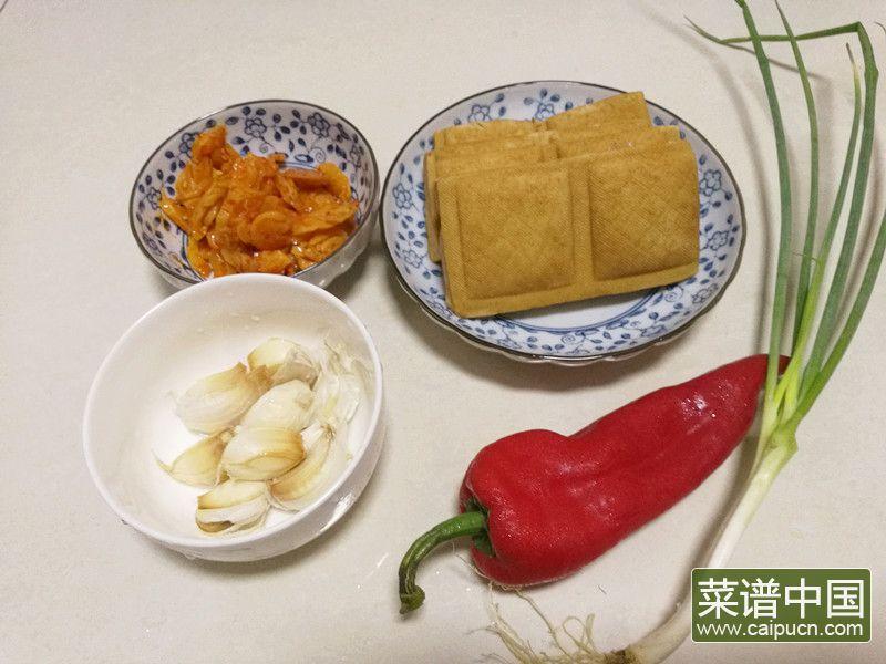 茶干炒萝卜干的做法步骤1