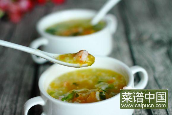 虾仁南瓜芹菜粥