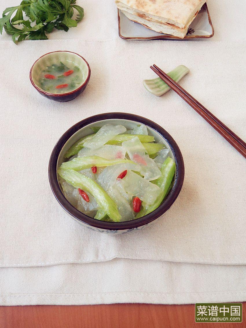 芹菜炒焖子的做法步骤8