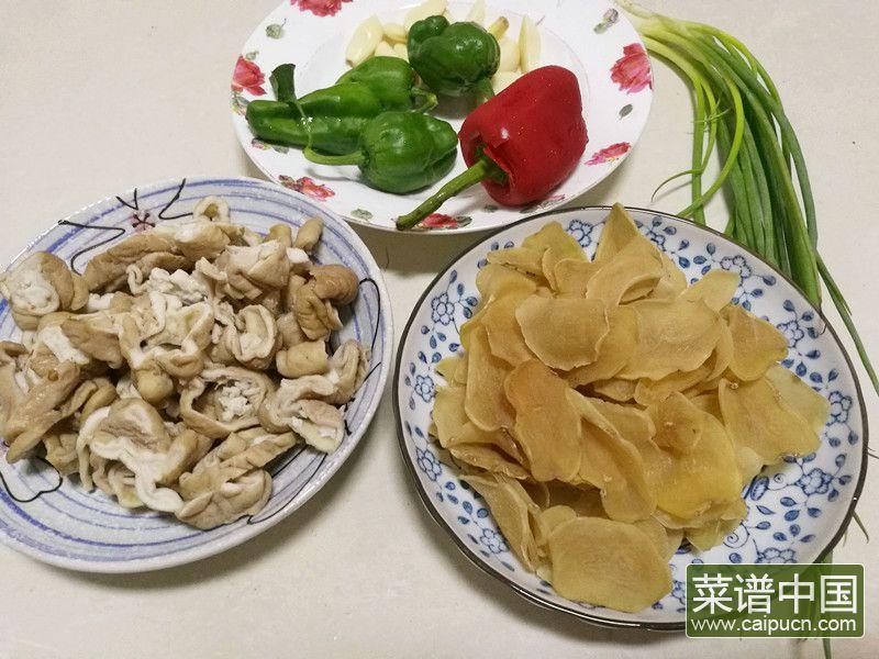 肥肠炒土豆干的做法步骤1