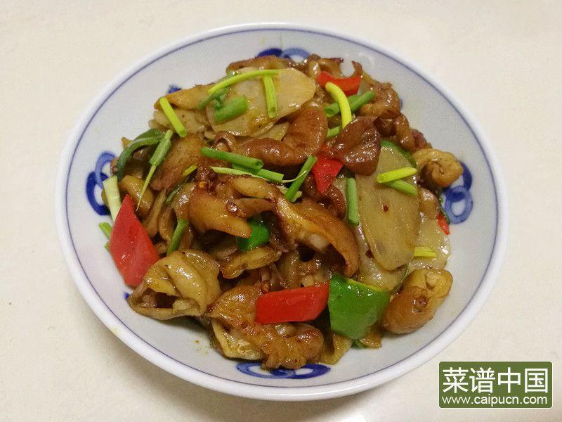 肥肠炒土豆干的做法步骤13