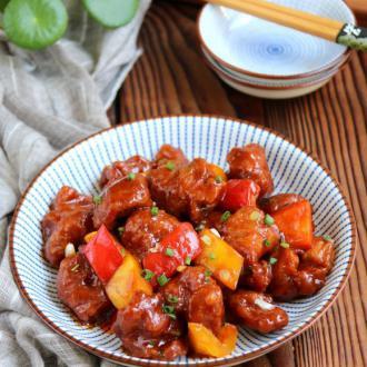 彩椒古老肉