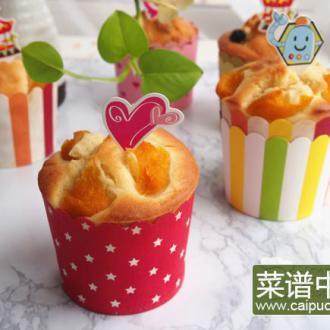 黄桃玛芬蛋糕
