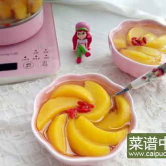 糖水黄桃罐头#润秋燥#