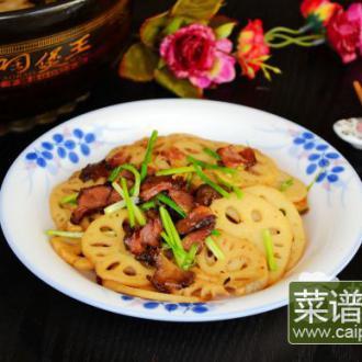 腊肉炒藕片