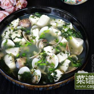 雪里蕻蛤蜊滚豆腐
