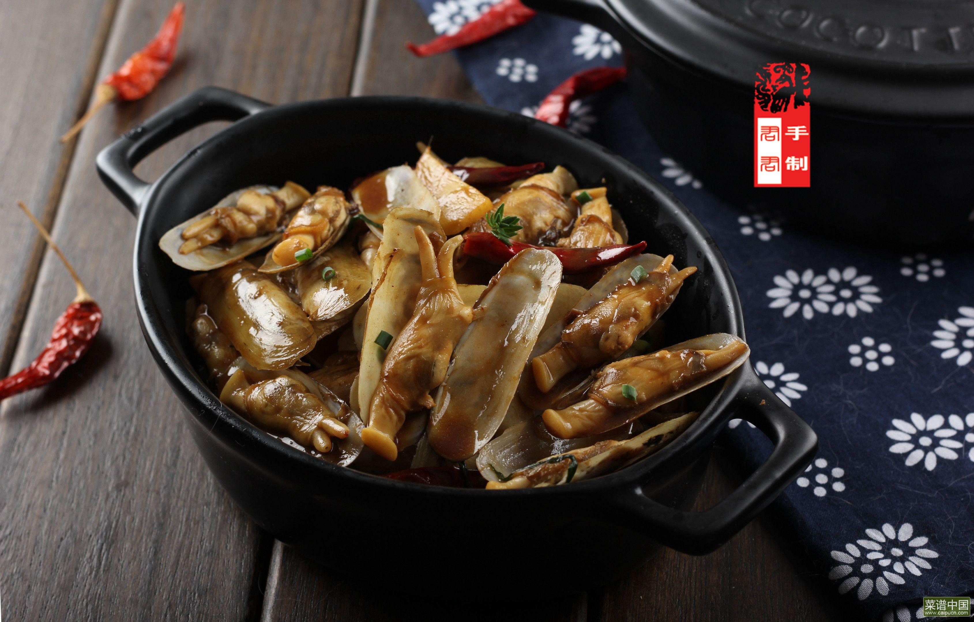 麻辣葱姜炒蛏子的做法步骤13