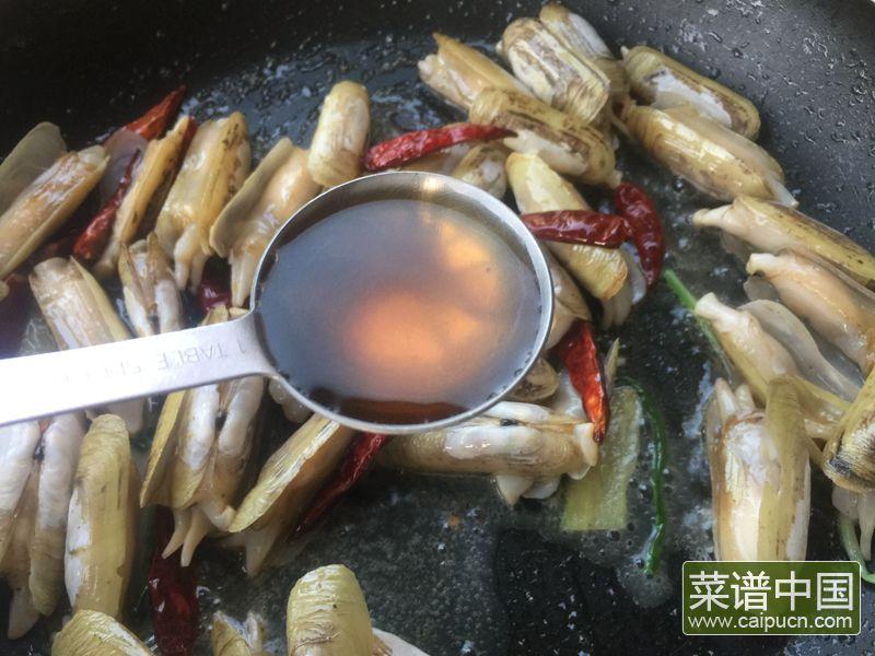 麻辣葱姜炒蛏子的做法步骤9