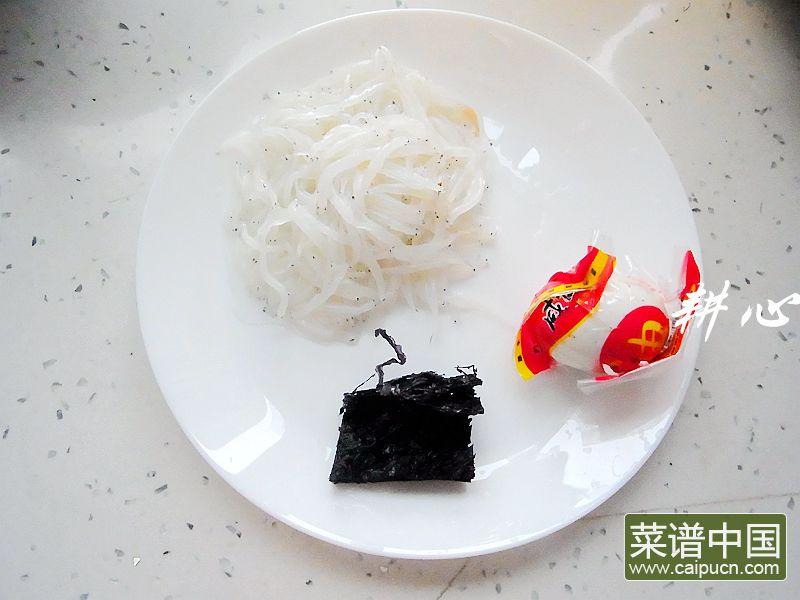 咸鸭蛋银鱼紫菜汤的做法步骤1