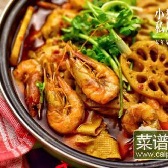 香辣虾藕片豆腐扣