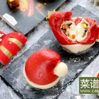 圣诞帽香菇香肠包