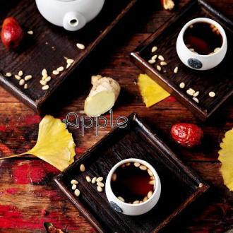 红枣松仁姜茶