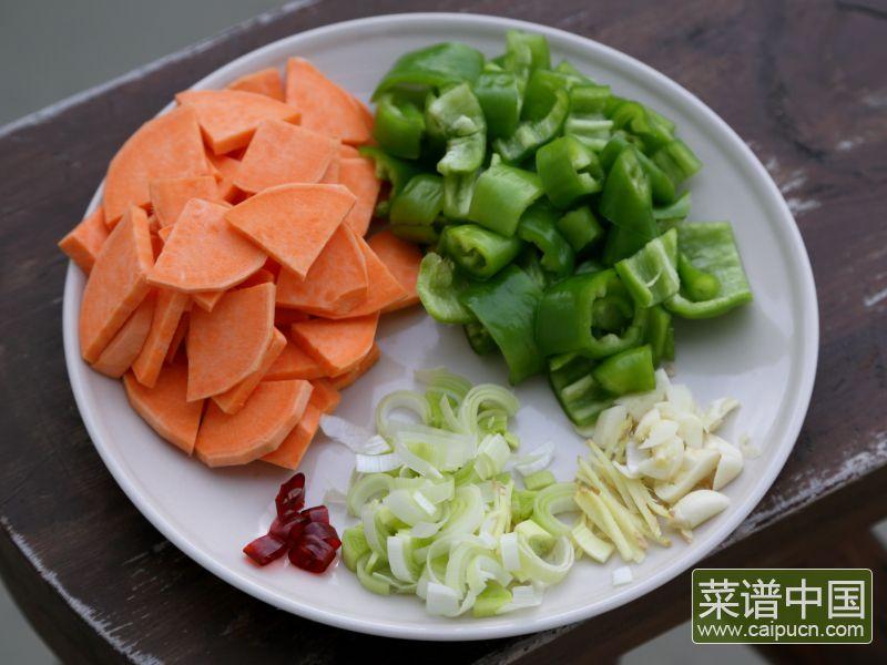 红薯炒肉片的做法步骤3