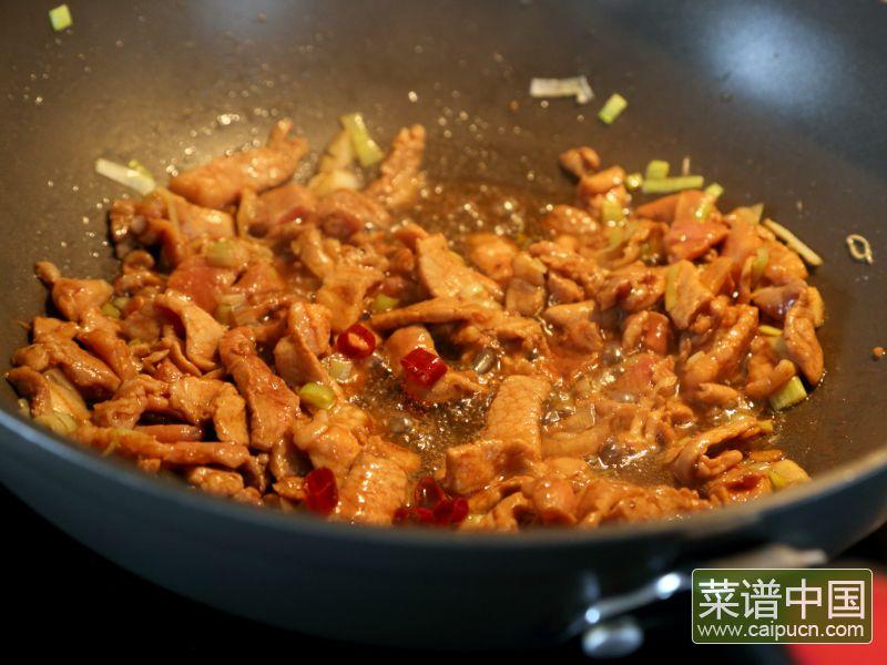 红薯炒肉片的做法步骤5