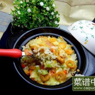 香菇鸡肉肠焗饭