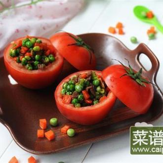 牛肉粒西红柿盅