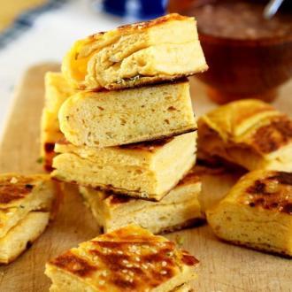 黄金葱油发面大饼