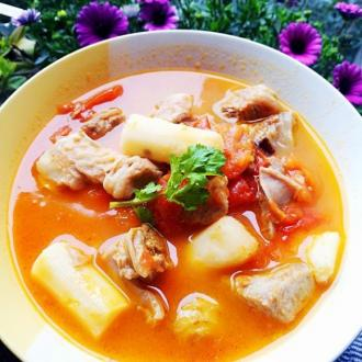 番茄牛腩山药汤