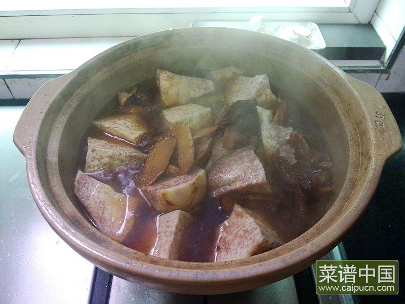 红番鸭芋头煲的做法步骤13