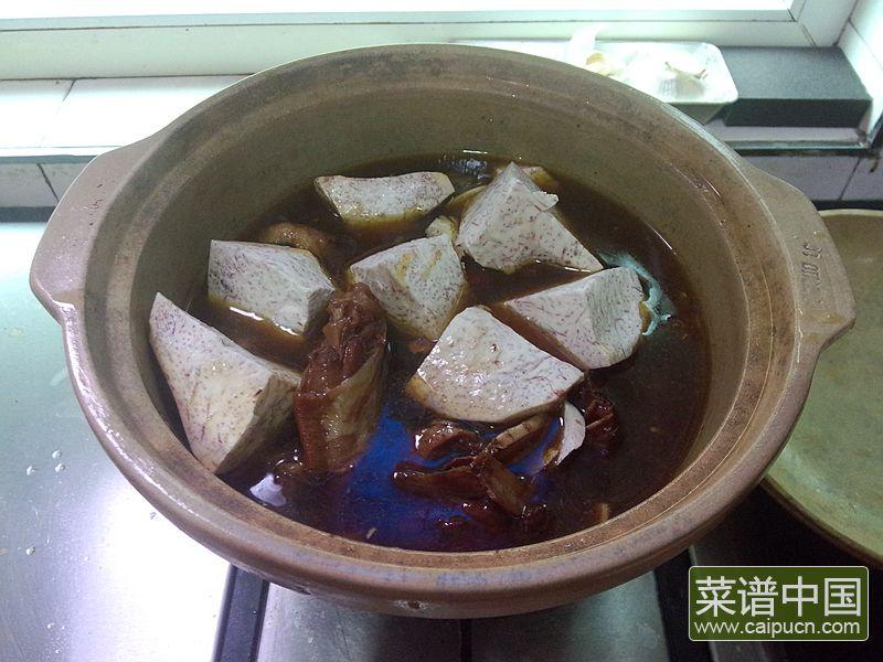 红番鸭芋头煲的做法步骤12