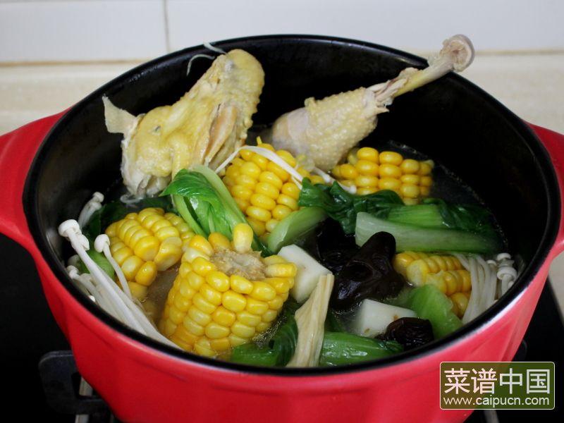 玉米棒土鸡汤#午餐#的做法步骤10