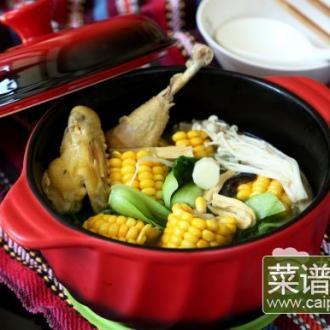 玉米棒土鸡汤#午餐#