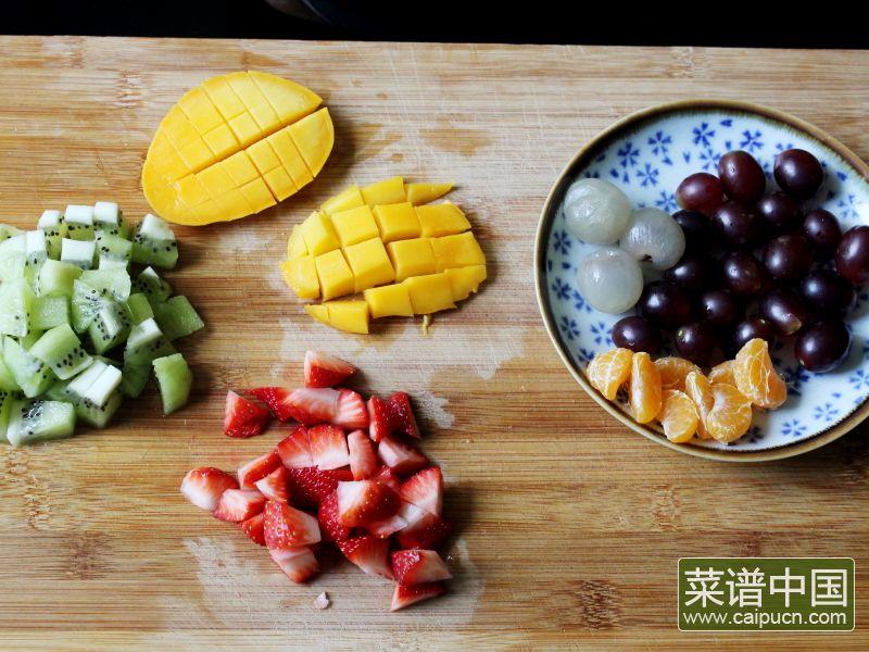 蜜汁水果石花膏的做法步骤11