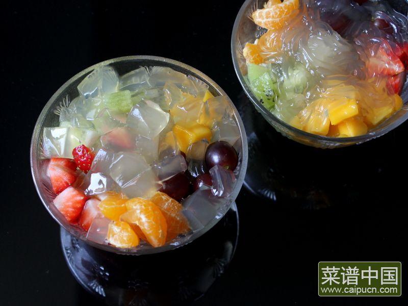 蜜汁水果石花膏的做法步骤12