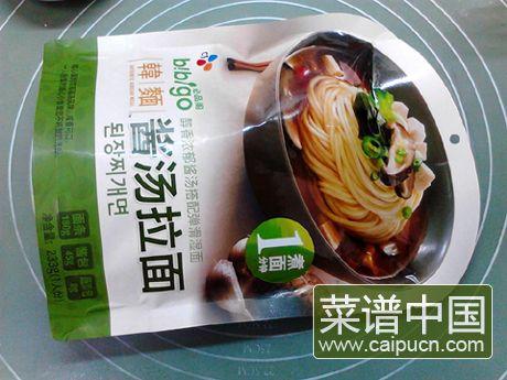 韩式酱汤拉面的做法步骤1