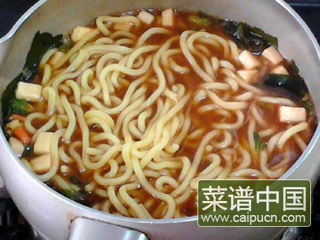 韩式酱汤拉面的做法步骤6