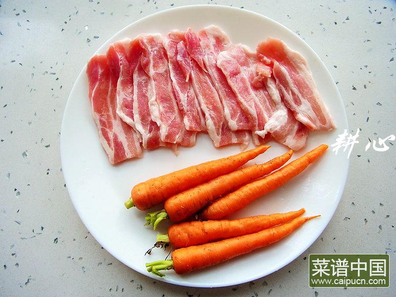 原味五花肉卷的做法步骤1