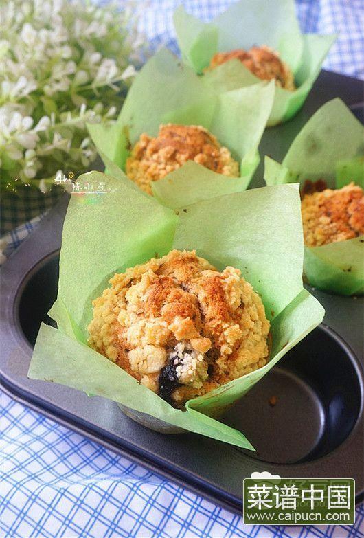 酥粒蓝莓马芬蛋糕