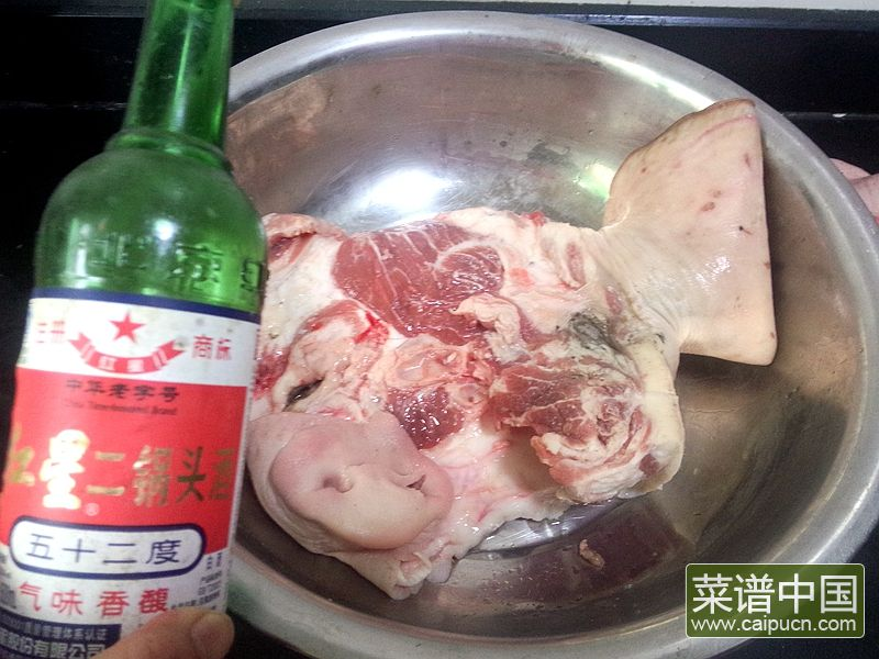 白切咸猪头肉的做法步骤3