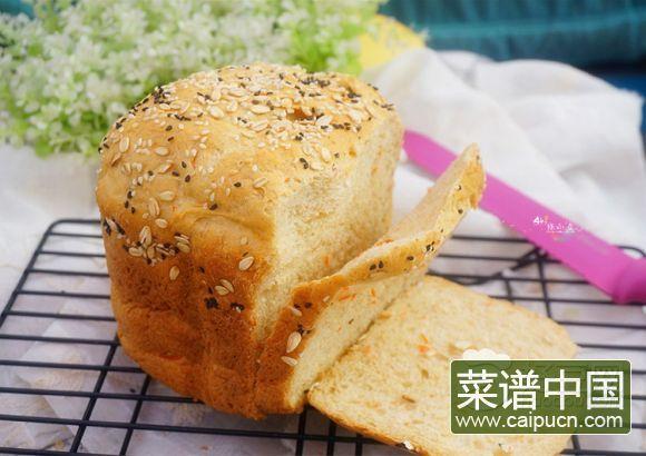 胡萝卜全麦吐司(面包机版)