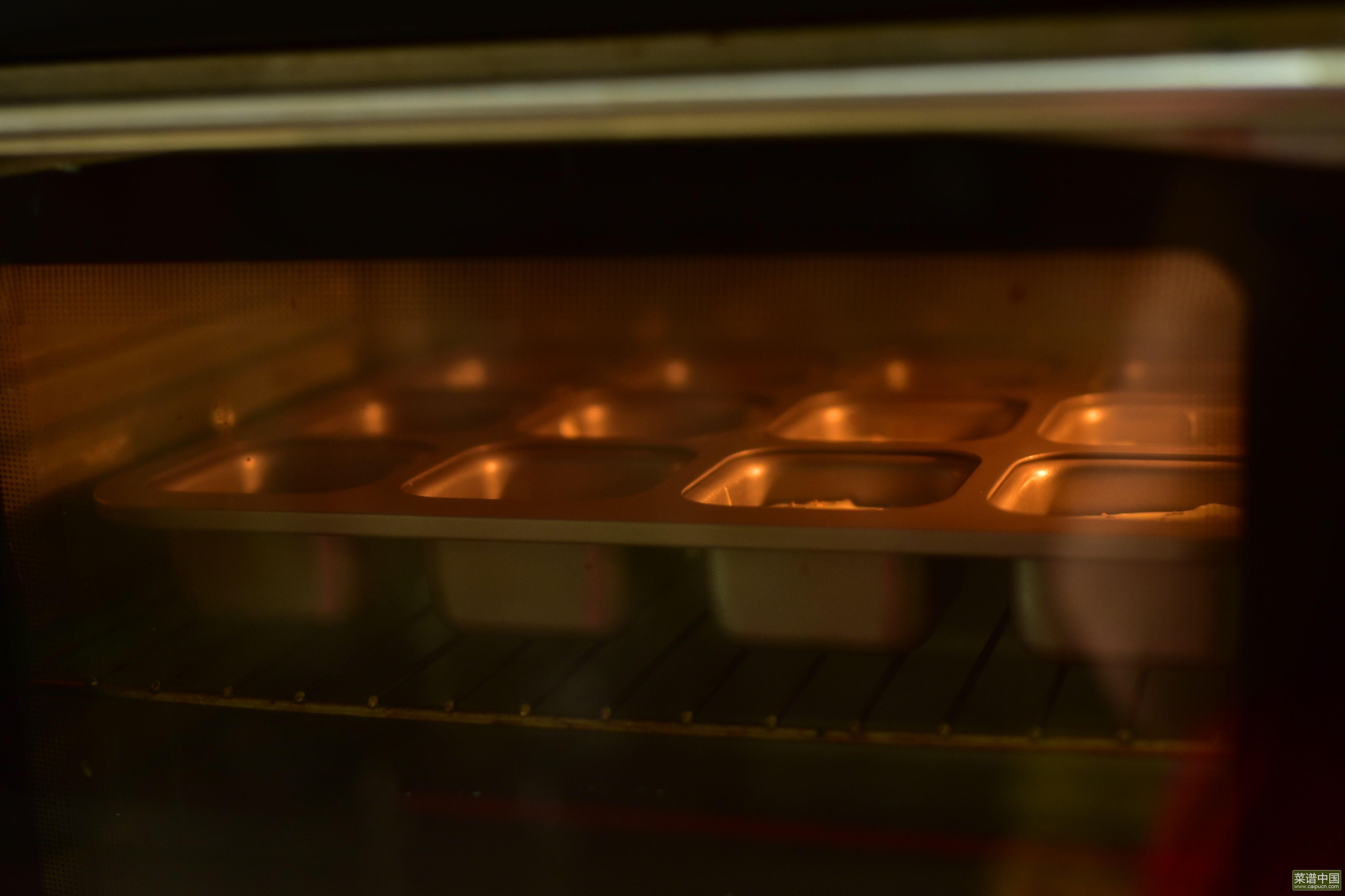 红豆脆皮小蛋糕的做法步骤12