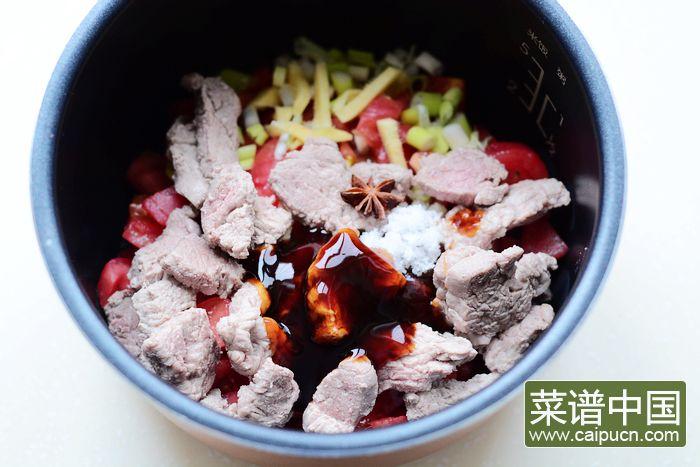 番茄牛肉的做法步骤6