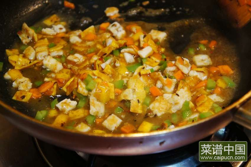 浇汁臭豆腐的做法步骤6