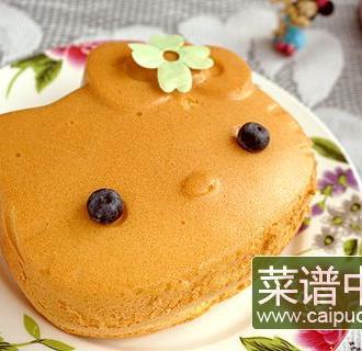 凯蒂猫蓝莓戚风蛋糕