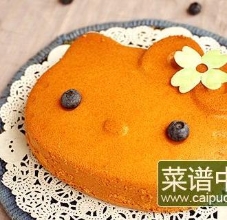 凯蒂猫酸奶蓝莓戚风蛋糕