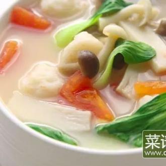 奶香虾滑菌菇汤