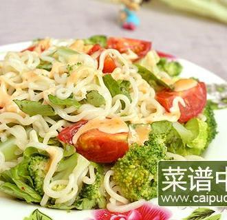 千岛酱拌蔬菜方便面